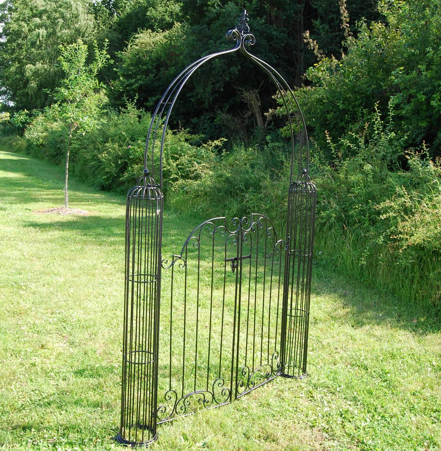 Secret Garden Metal Garden Arch With Gates