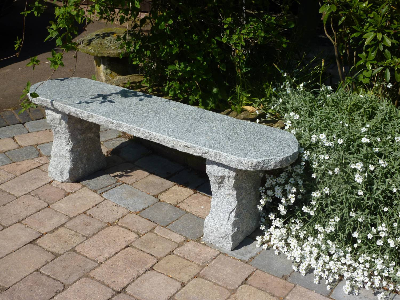 Rustic Grey Granite Garden Bench Garden Ornamnents