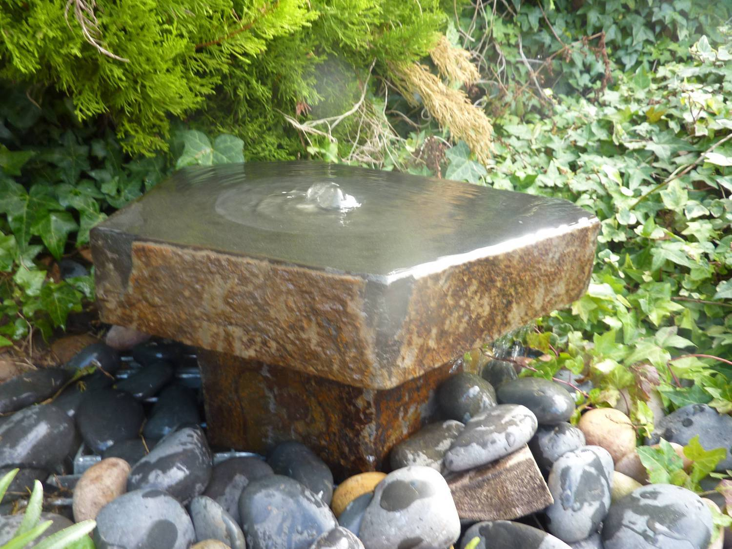 Babbling Basalt Water Feature With Plinth