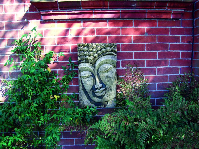 Stone Buddha Relief Wall Plaque Garden Ornamnents