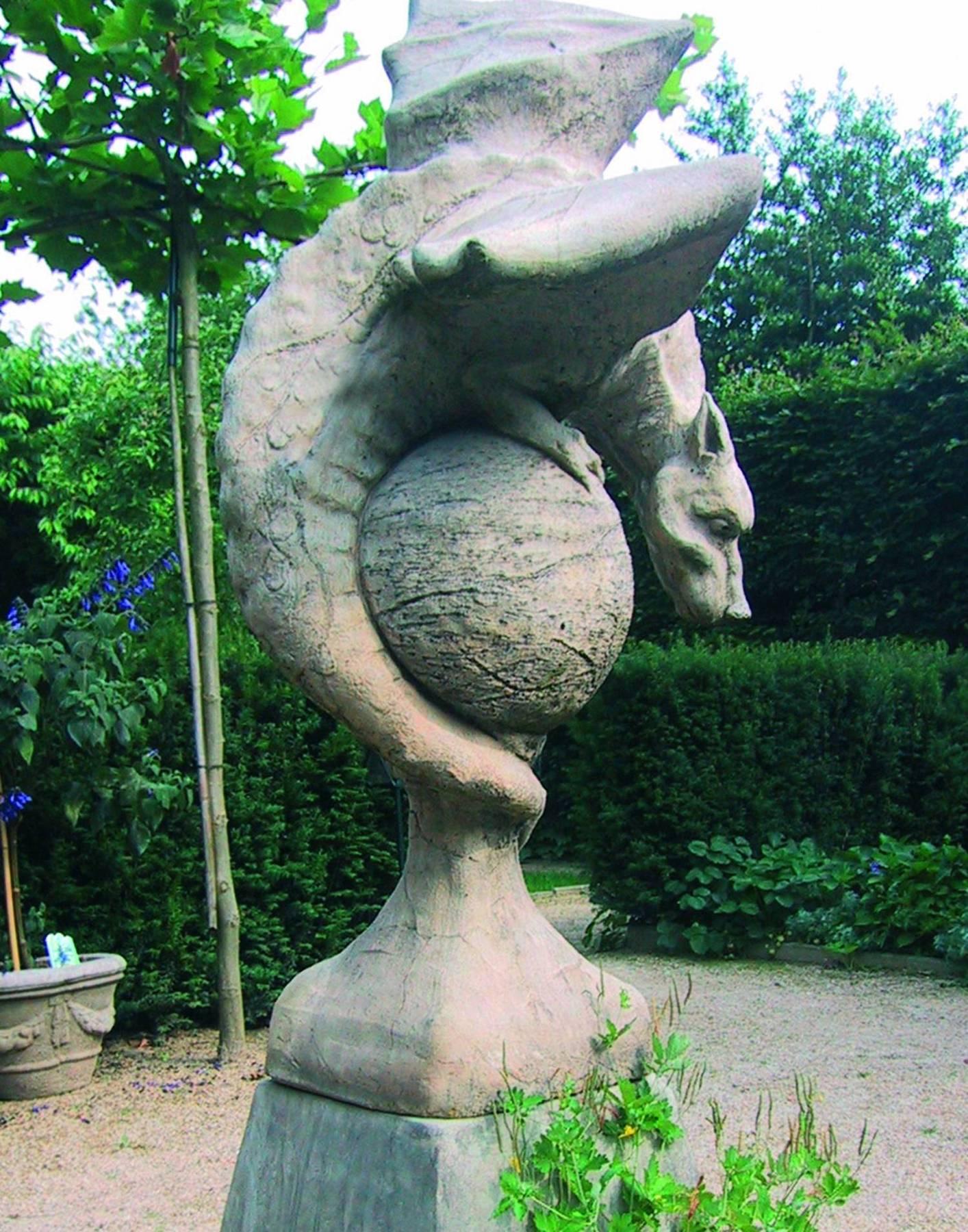 Wyvern Dragon Garden Statue