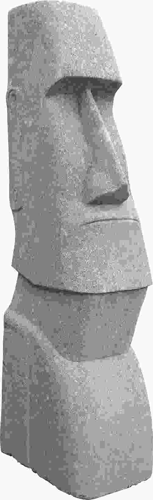 Small Stone Moai Head Ornament