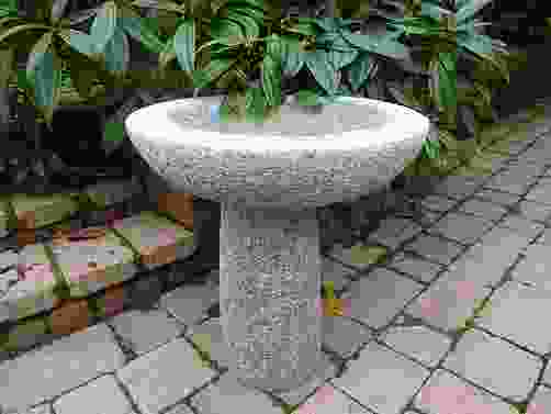 Grey Granite Round Bird Bath