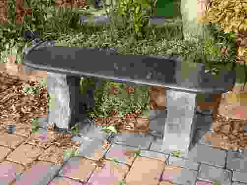 Acton Dark Grey Granite Garden Bench