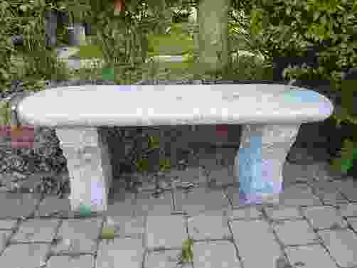 Acton Grey Granite Garden Bench