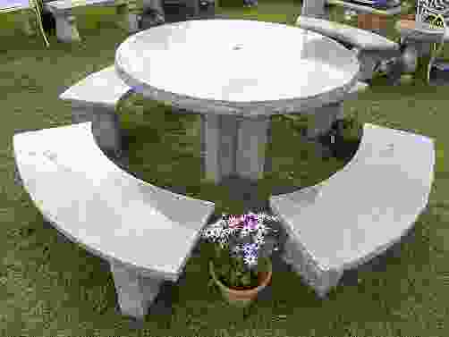 Enfield Granite Garden Table and Bench Set