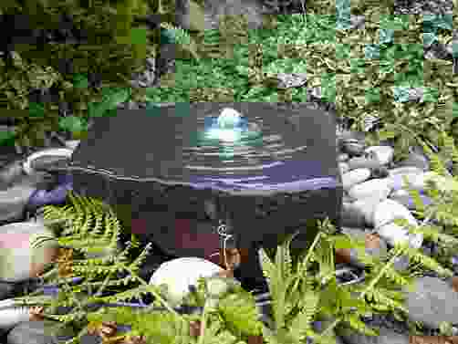 Basalt Slab Water Feature