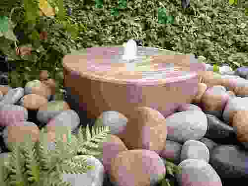 Large Mill Wheel Rainbow Sandstone Water Feature