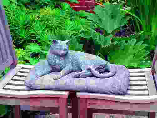 Pampered Cat Statue
