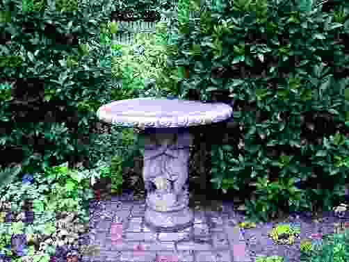 Three Cherub Stone Garden Table