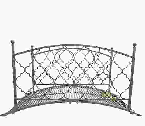 Marra Grey Antiqued Metal Garden Bridge