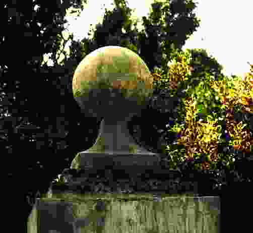 Large Ball on Base Stone Garden Finial