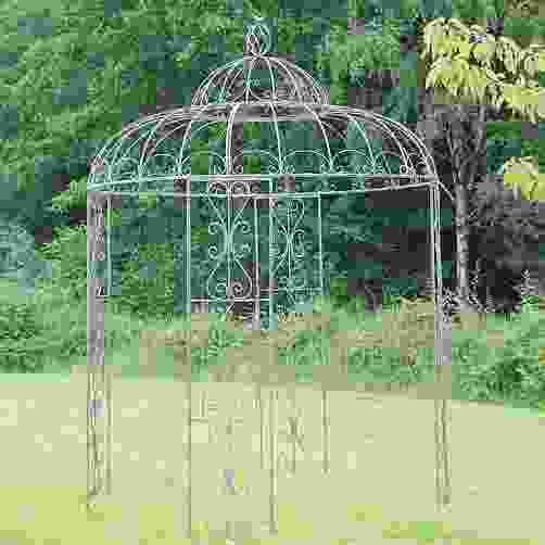 Antiqued Blue Birds Metal Garden Gazebo