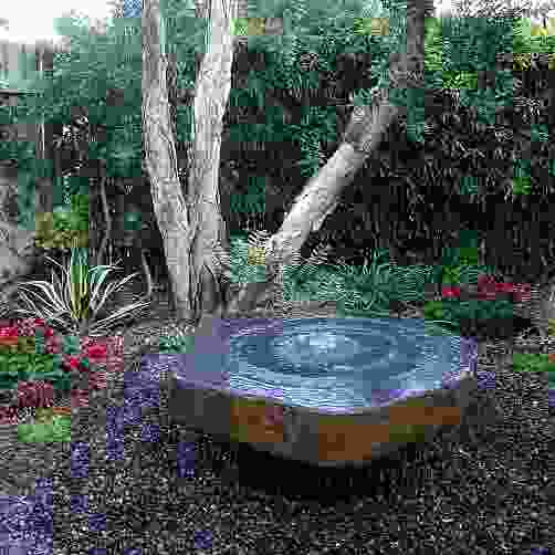 XL Basalt Slab Water Feature with Plinth