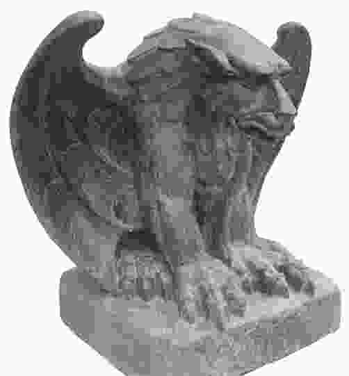Seated Gothic Dragon Stone Ornament