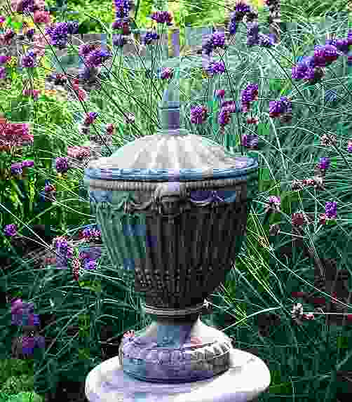 Olympic Stone Garden Urn with Lid