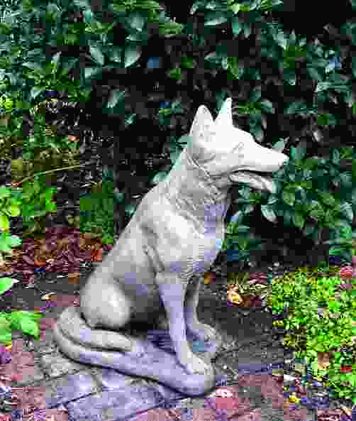 German Shepherd Garden Statue