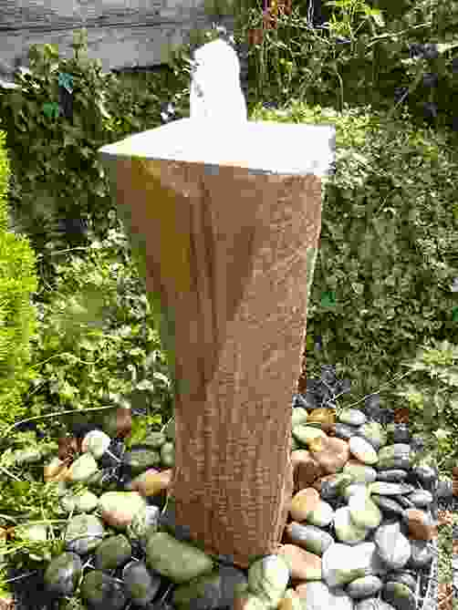 Large Twisting Column Rainbow Stone Water Feature