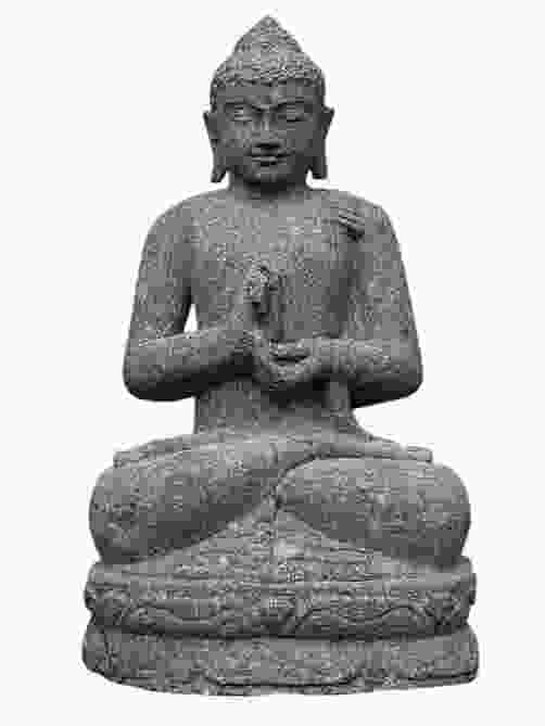 Seated Teaching Indian Buddha Stone Ornament