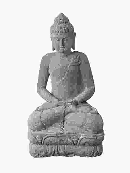 Seated Meditating Indian Buddha Stone Ornament