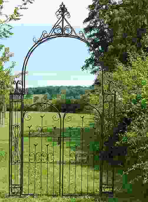Woodland Metal Garden Arch with Gates