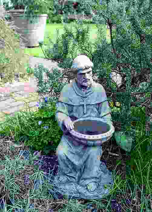 St Francis of Assisi Bird Feeder Stone Statue