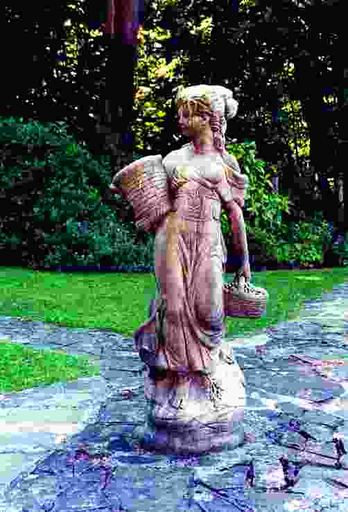 Large Country Girl Garden Statue