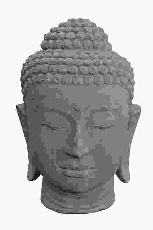 Large Buddha Head Stone Ornament