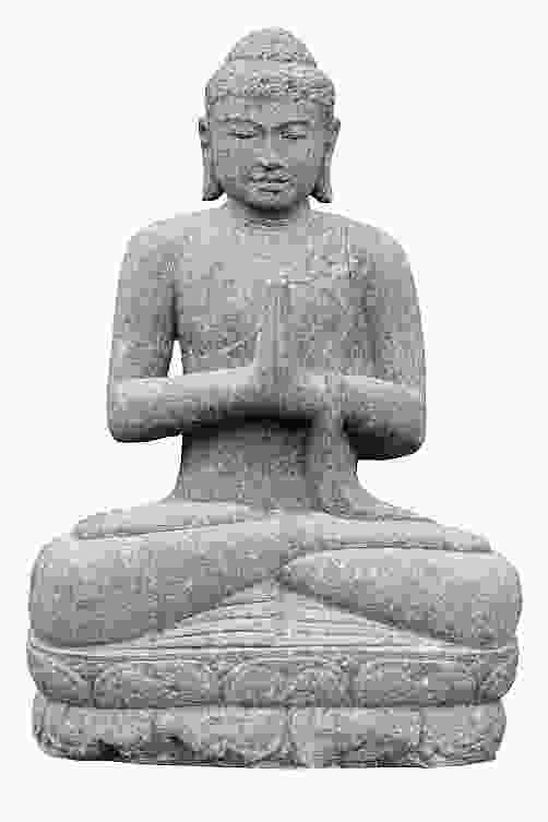 Seated Greetings Indian Buddha Stone Ornament