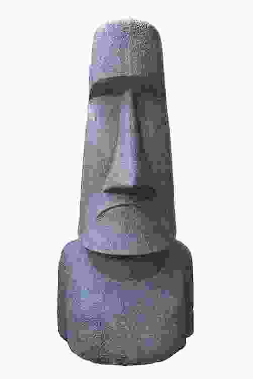 Medium Moai Head Stone Ornament