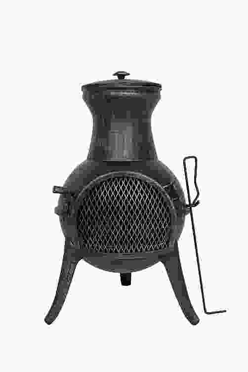 Squat Steel Chimenea with Cast Legs