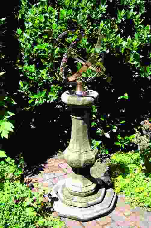 Large Armillary on Stone Garden Pedestal