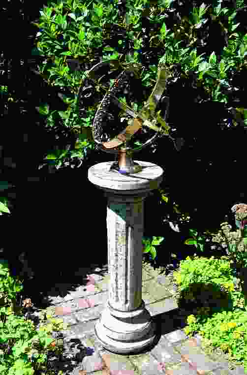 Large Armillary on Brighton Stone Garden Pedestal