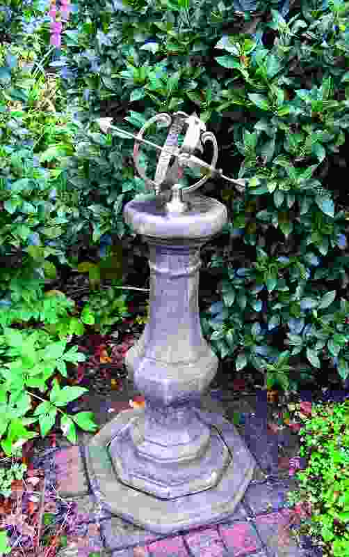 Medium Armillary on Stone Garden Pedestal