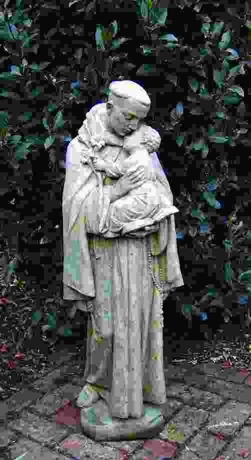 Saint Anthony Holding a Child Stone Garden Statue